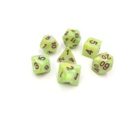 (Green+Yellow+White) Marble dice set