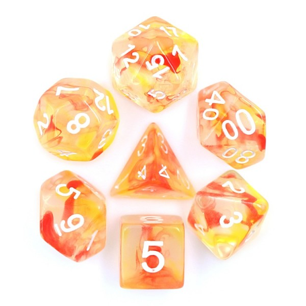 (Orange+Red) Pearl Swirl Dice