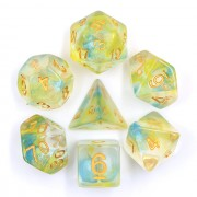 (Yellow+Blue) Pearl Swirl Dice