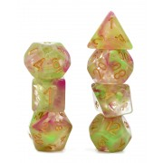 (Rose red+Yellow+Green) Pearl Swirl Dice