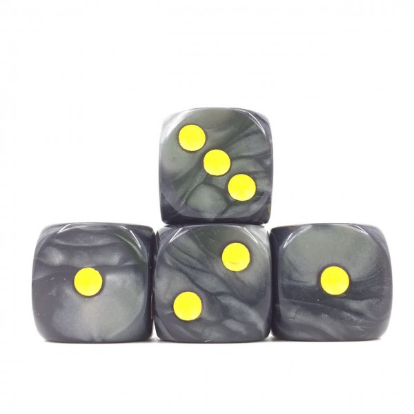 (Black Pearl )16mm D6 Pips dice