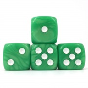 (Green Pearl )16mm D6 Pips dice