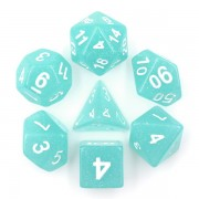 Lime Blue Translucent Glitter Dice