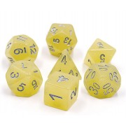 Yellow Translucent Glitter Dice Set