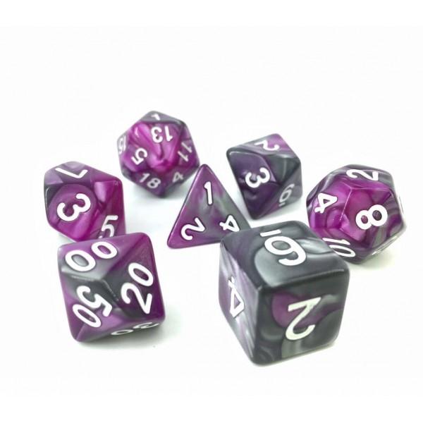 (Silver+purple) Blend color dice set