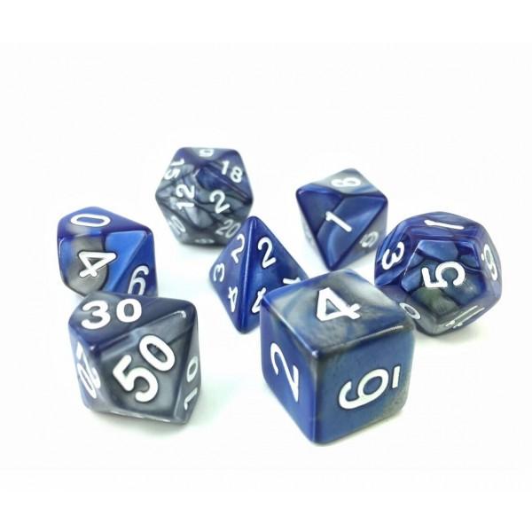 (Silver+Blue) Blend color dice set