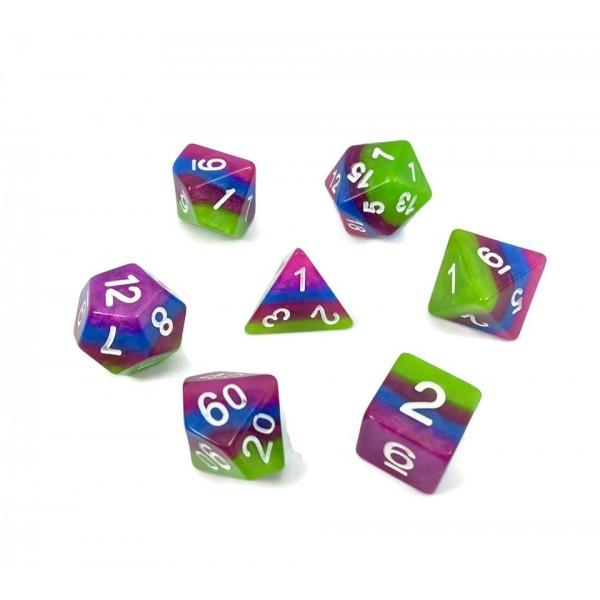 4 layer multicolor dice