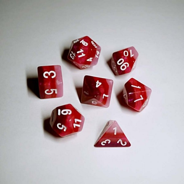 Red Gradients dice set