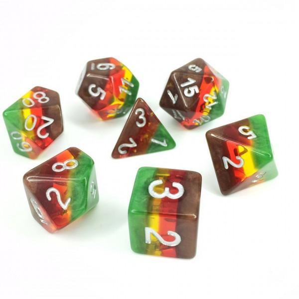Autumn dice set