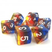 Transparent Burning Cloud dice set