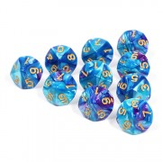 (Bright Blue+Purple)-d10 sets