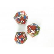 Multicolor dice-d20