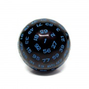 D100-Black Opaque (Blue Ink)