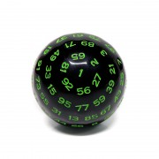 D100-Black Opaque (Green Ink)
