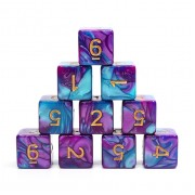 (Blue+Bright Purple) Blend-D6 sets