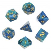 (Blue+Green) galaxy dice set