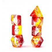 7 pcs (yellow+white+red) dice set